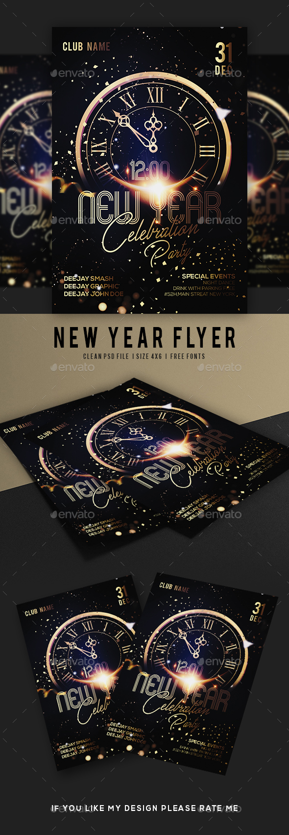 GraphicRiver New Year Flyer 21161564