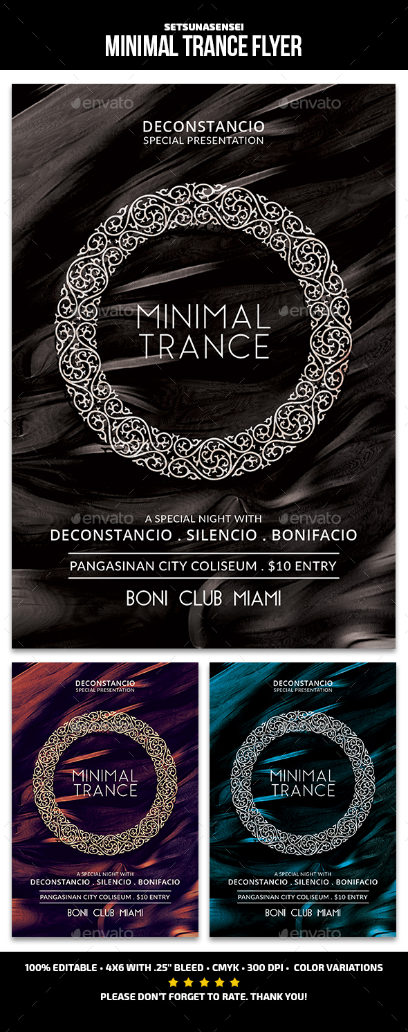 GraphicRiver Minimal Trance Flyer 21161570