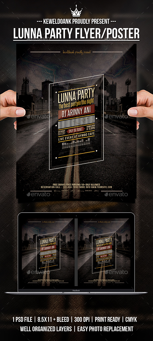 Lunna Party Flyer / Poster - Clubs & Parties Events