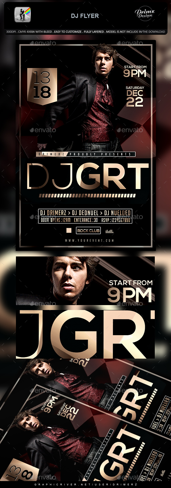 GraphicRiver DJ Flyer 21161813