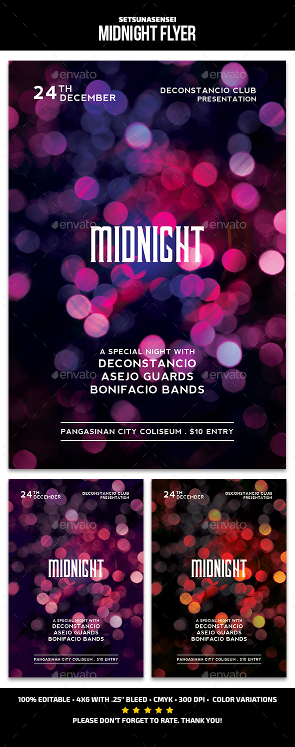 Midnight Flyer - Events Flyers