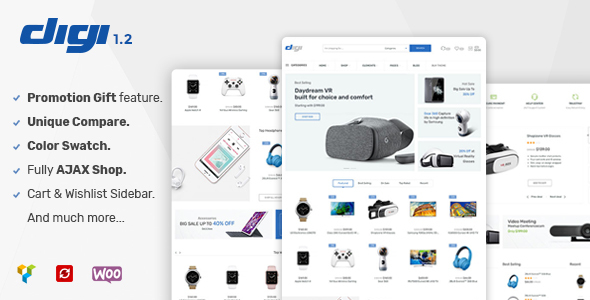 Digi - Electronics WooCommerce Theme (Promotion Gift Feature) - WooCommerce eCommerce