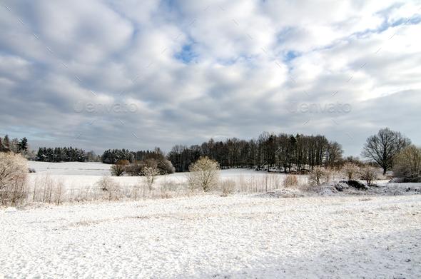 Winter European Farmland - Stock Photo - Images