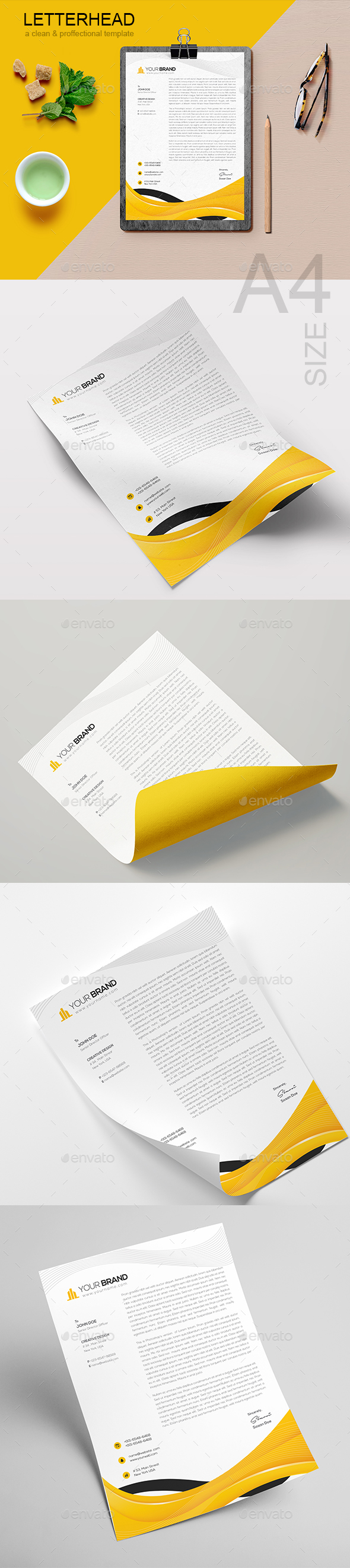 GraphicRiver Letterhead 21161910