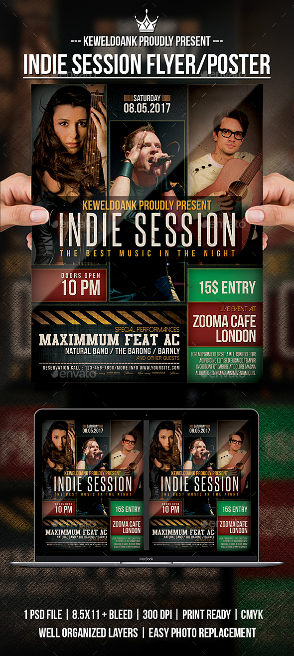 Indie Session Flyer / Poster - Events Flyers