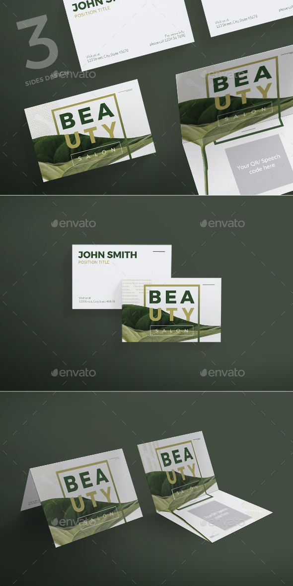 Beauty Salon Business Card - Business Cards Print Templates