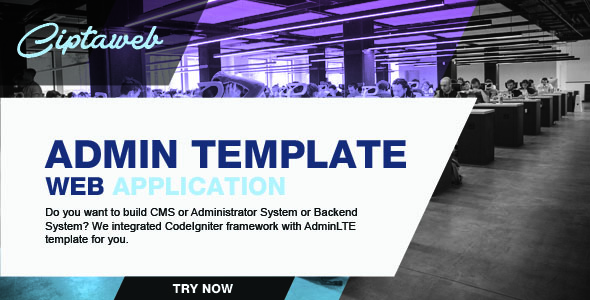 CodeIgniter integrated with AdminLTE Template - CodeCanyon Item for Sale
