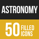 50 Astronomy Filled Low Poly Icons