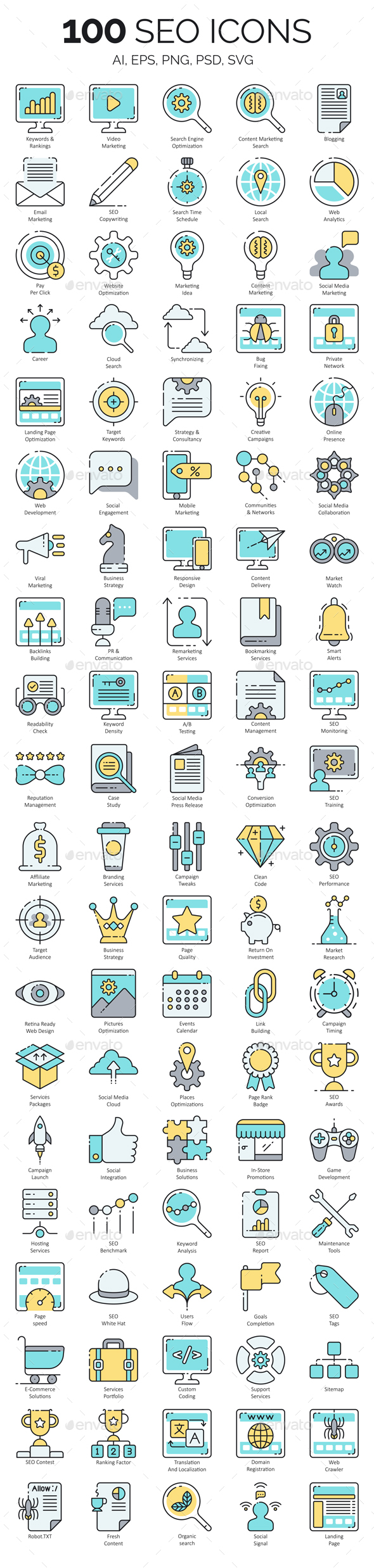 GraphicRiver SEO Icons 21162264