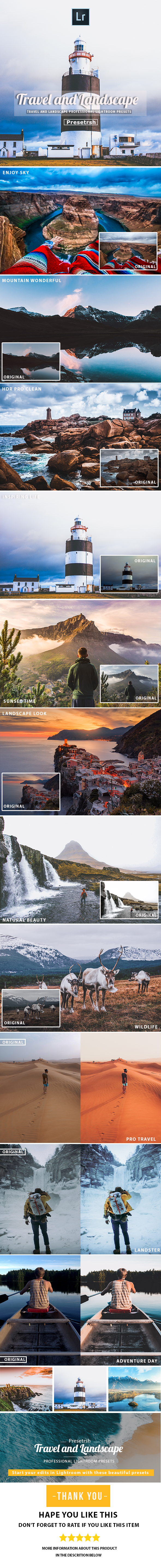 30 Travel & Landscape Presets - Lightroom Presets Add-ons