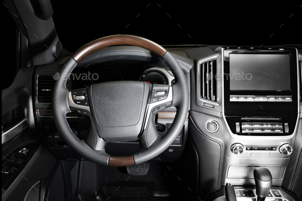 Modern luxury car interior - Stock Photo - Images