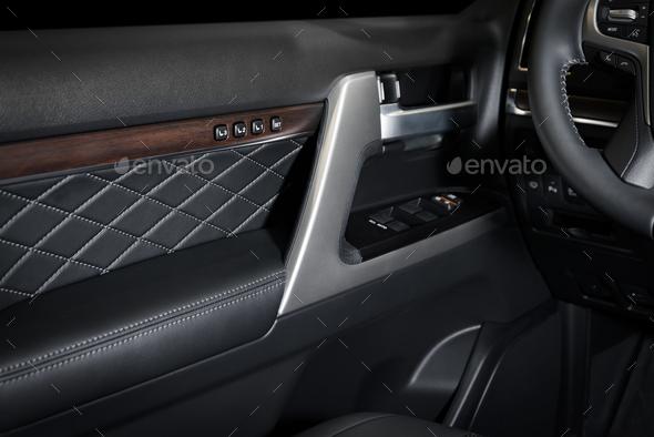 Door panel car interior - Stock Photo - Images