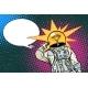 Executive Astronaut Head Light Bulb Idea