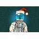 Christmas Astronaut with Dreams of Paris