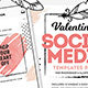 Valentine's Day Instagram Templates - GraphicRiver Item for Sale