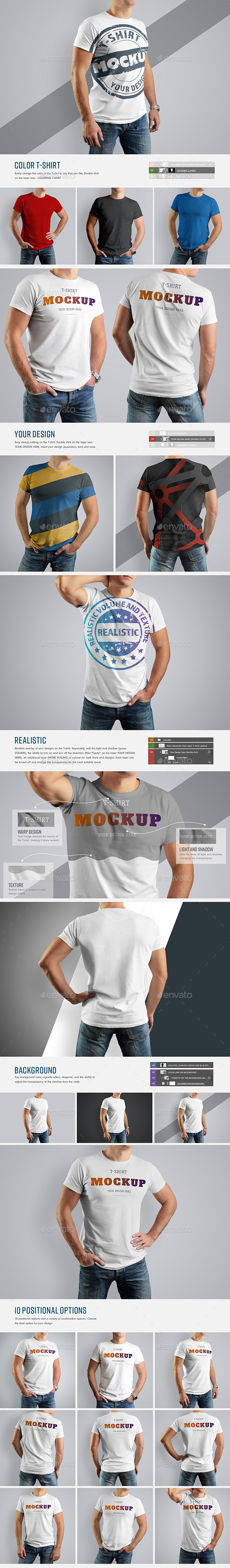 GraphicRiver 10 Mockup T-Shirt 21162312