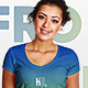 African V-Neck Female T-Shirt Mockups - GraphicRiver Item for Sale