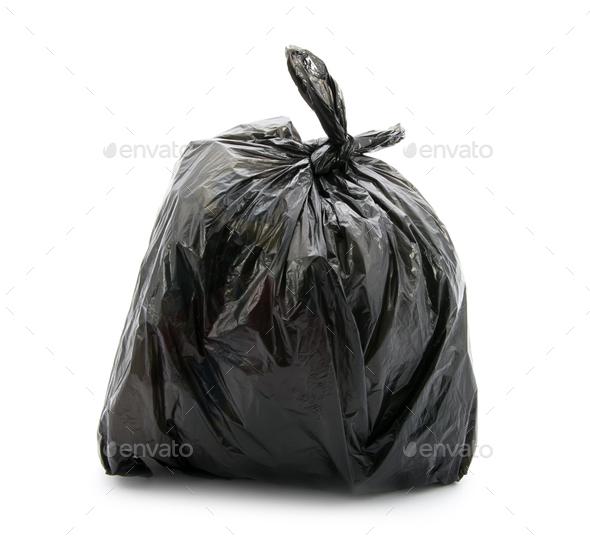 Garbage bag - Stock Photo - Images