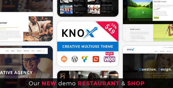 Knox | Multi-Business Modern WordPress Theme