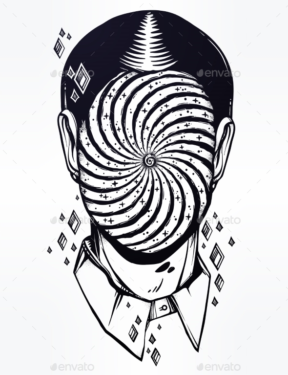 GraphicRiver Portrait of a Weird Man with Anonymous Face 21162444