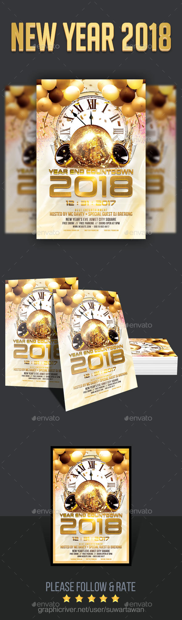 GraphicRiver New Year's Eve 2018 21162548