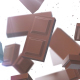 Chocolate Pieces Stack Falling - VideoHive Item for Sale