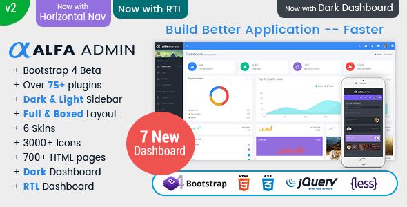 Alfa - Responsive Bootstrap 4 Admin Dashboard Template, UI and WebApp Template
