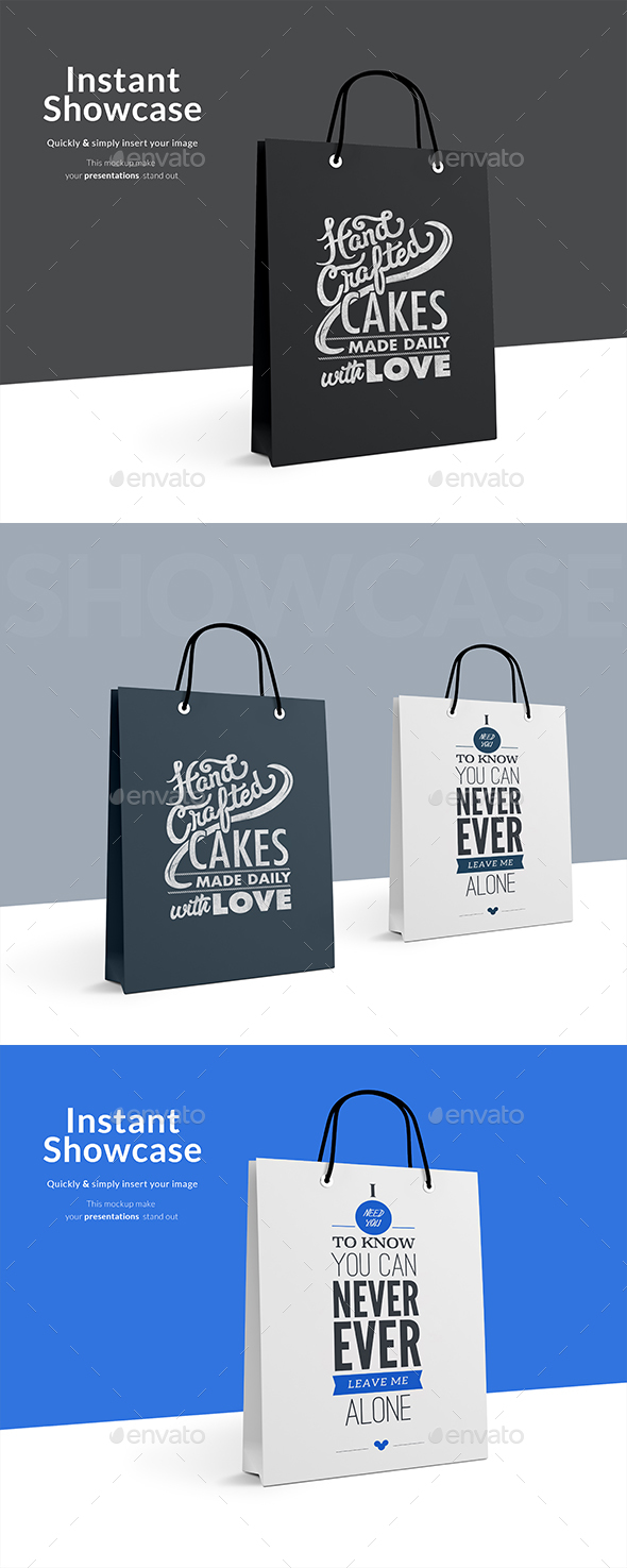 GraphicRiver Paper Bag Mockup 21162770