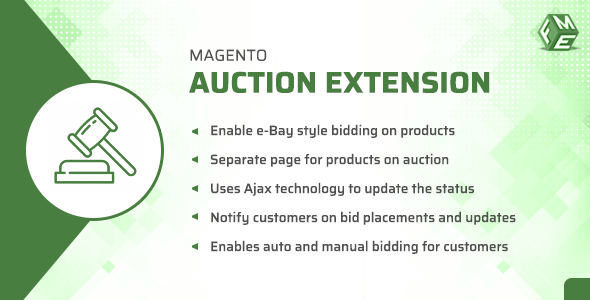CodeCanyon Magento Auction Extension Online Auction & Bidding System 21162788