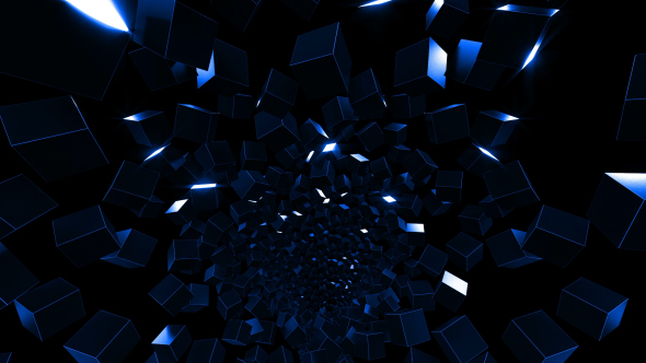 VideoHive Cubes Tunnel 21162832