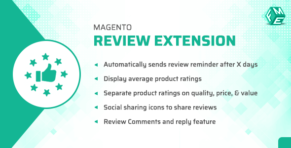 Magento Product Reviews & Rating Extension with Review Reminder - CodeCanyon Item for Sale