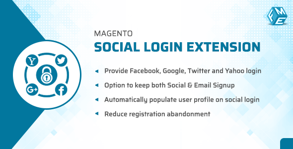 Magento Social Login Extension - Facebook , Twitter, Gmail, Yahoo Free Download | Nulled