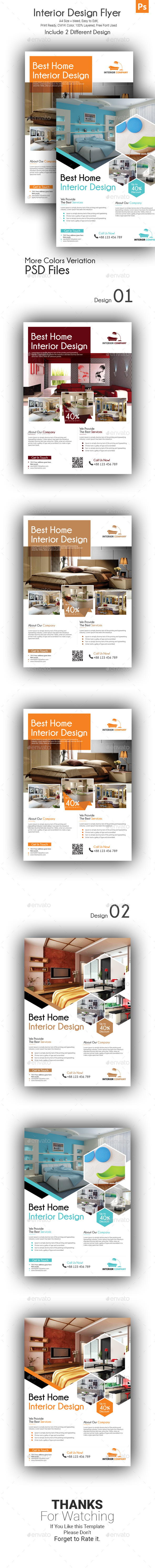 GraphicRiver Interior Design Flyer 21162914