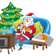 Santa and TV - GraphicRiver Item for Sale