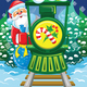 Santa and Train - GraphicRiver Item for Sale