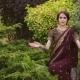 Brunette Girl in a Beautiful Costume Indian Sari