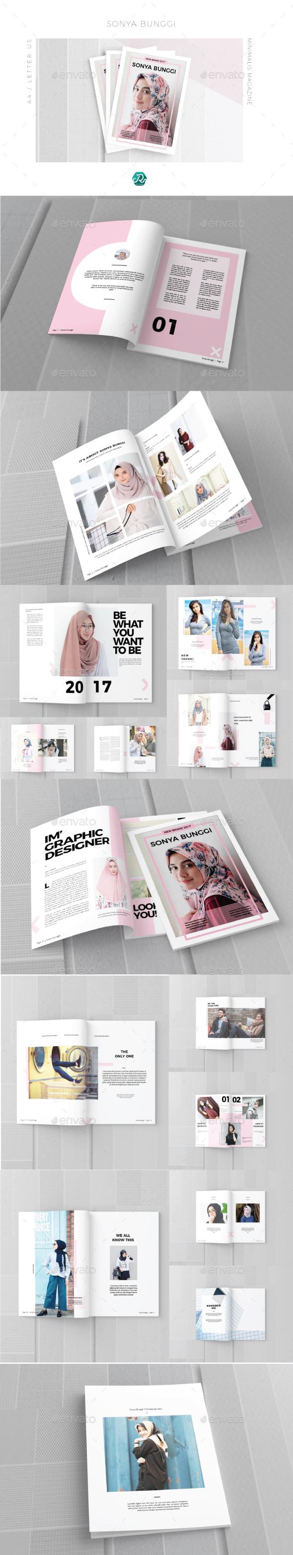 Sonya Bunggi Magazine - Magazines Print Templates
