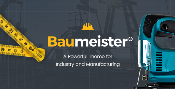 Baumeister - Theme for Industry and Manufacturing - Corporate WordPress
