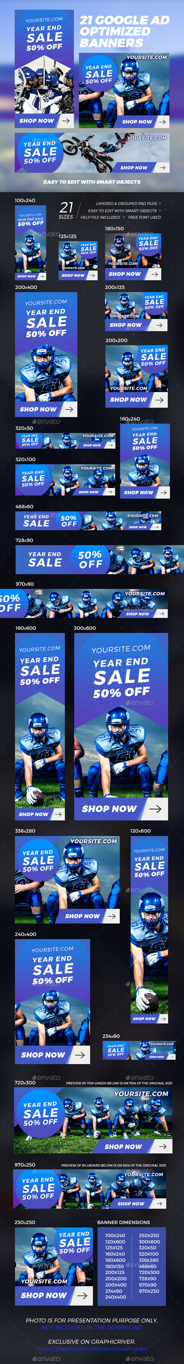 GraphicRiver 21 Sport Banner Ads 21163304