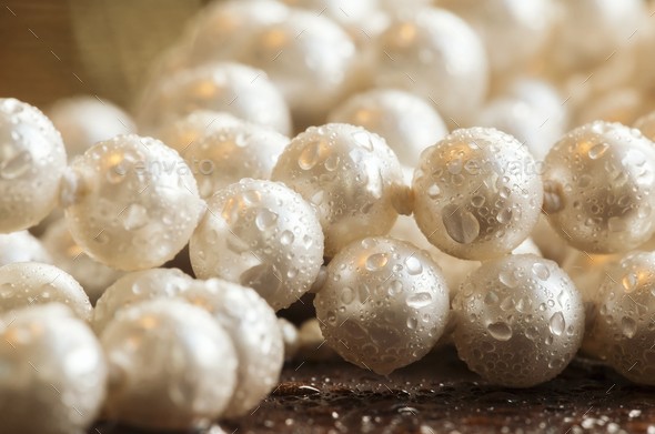 Christmas gift pearls - Stock Photo - Images