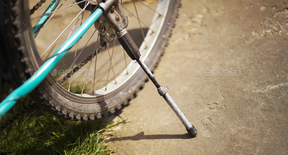 Old bicycle detail - Stock Photo - Images