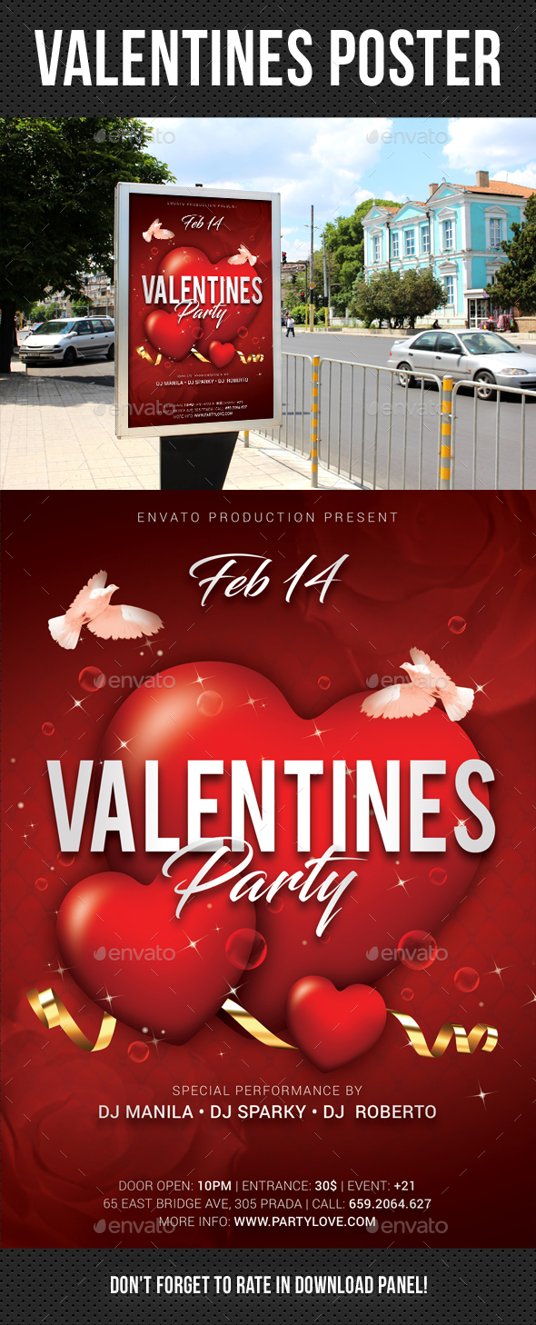 GraphicRiver Valentines Poster 21163326