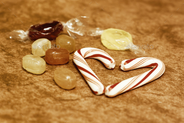 Red Christmas candies - Stock Photo - Images
