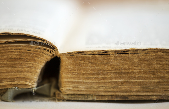 Old book close-up - Stock Photo - Images
