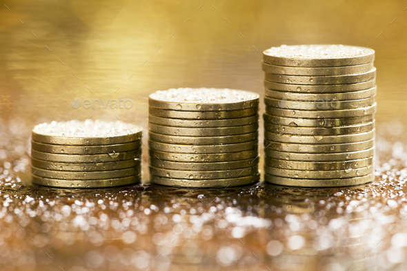Save money coins - Stock Photo - Images