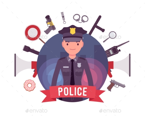 GraphicRiver Policeman and Weapons Poster 21163363