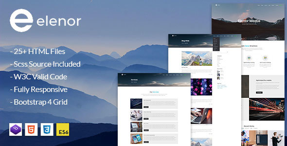Download Elenor - Creative  Agency, Corporate and Portfolio Multi-purpose HTML Template            nulled nulled version