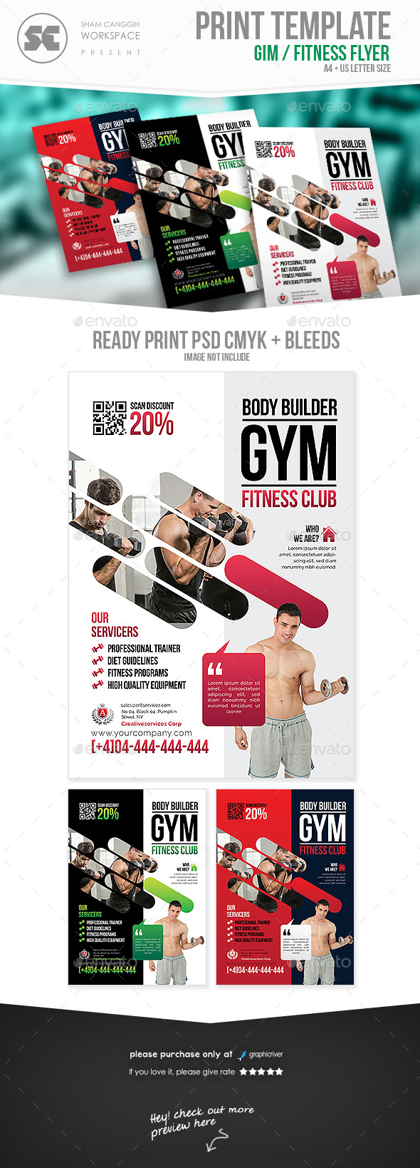 GraphicRiver Fitness Gym Flyer 21163503