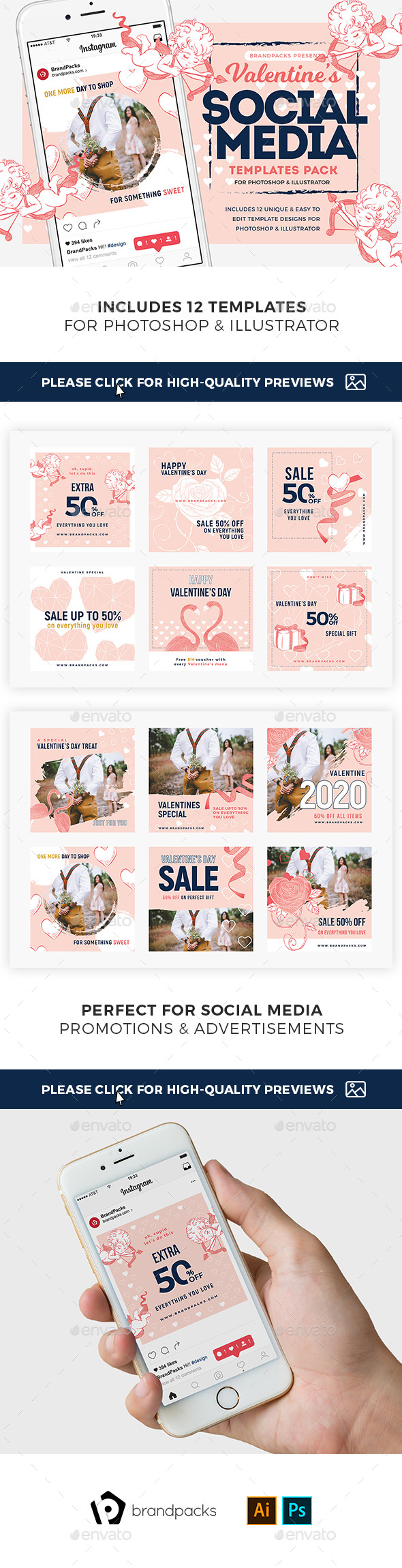 GraphicRiver Valentines Instagram Templates 21163576