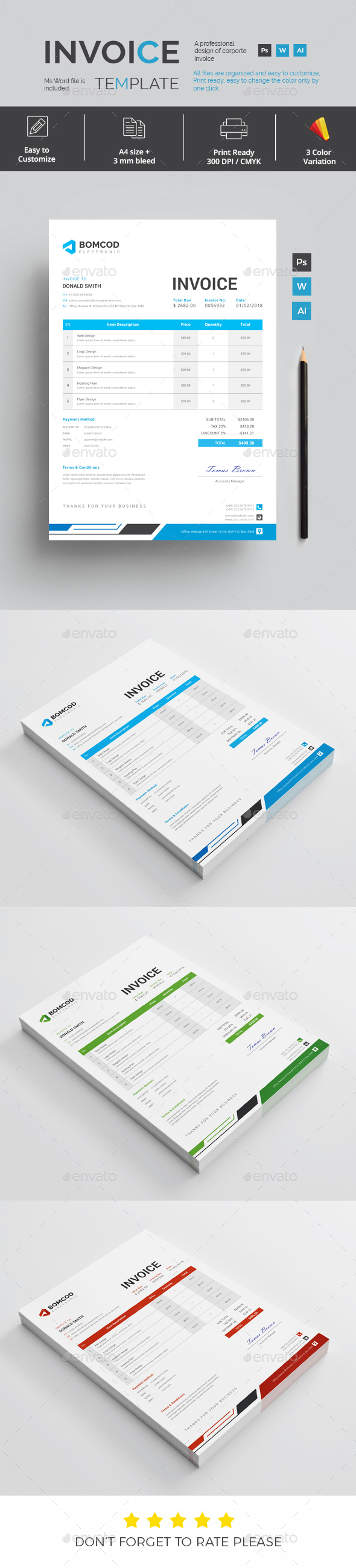GraphicRiver Invoice 21163647